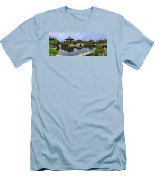 Men's T-Shirt (Slim Fit) featuring the photograph Baomo Garden Temple by Nicola Nobile