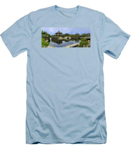 Baomo Garden Temple Men's T-Shirt (Athletic Fit)