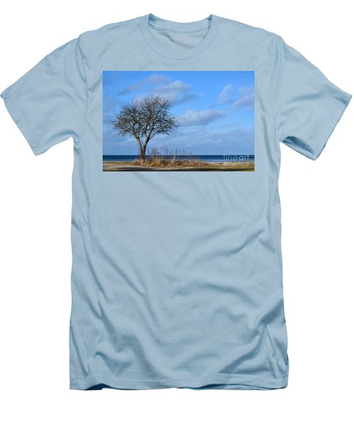 Bare Single Tree Men's T-Shirt (Slim Fit) by Kennerth and Birgitta Kullman