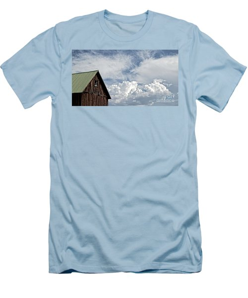 Men's T-Shirt (Slim Fit) featuring the photograph Barn And Clouds by Joseph J Stevens