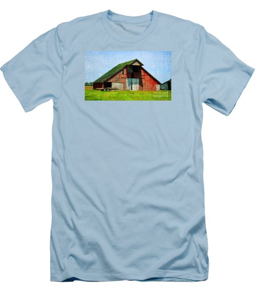 Barn - Central Illinois - Luther Fine Art Men's T-Shirt (Slim Fit) by Luther Fine Art