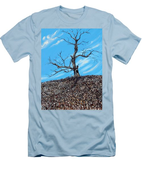 Men's T-Shirt (Slim Fit) featuring the painting Battle Scars by Meaghan Troup