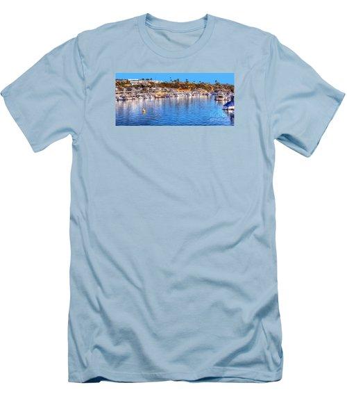Beacon Bay - South Men's T-Shirt (Slim Fit) by Jim Carrell
