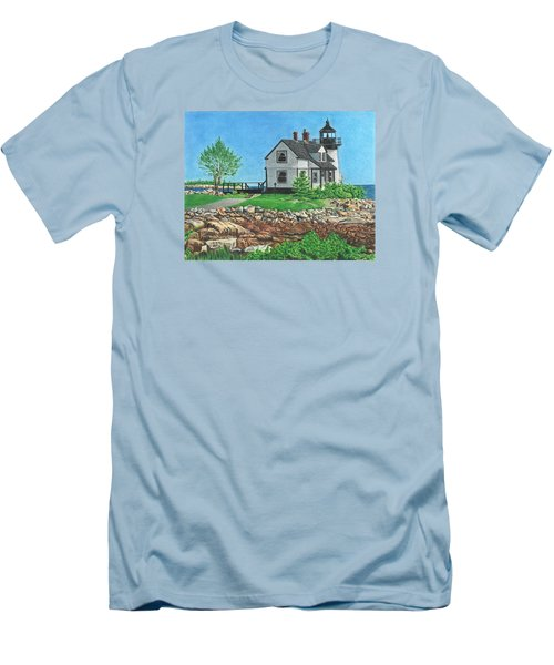 Men's T-Shirt (Slim Fit) featuring the drawing Beacon Of Hope by Troy Levesque