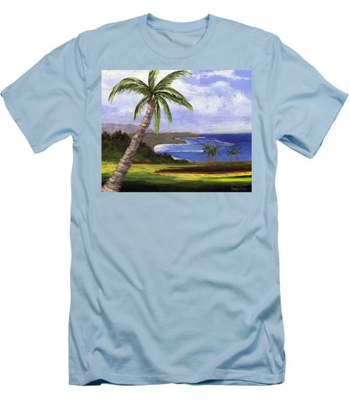 Men's T-Shirt (Slim Fit) featuring the painting Beautiful Kauai by Jamie Frier