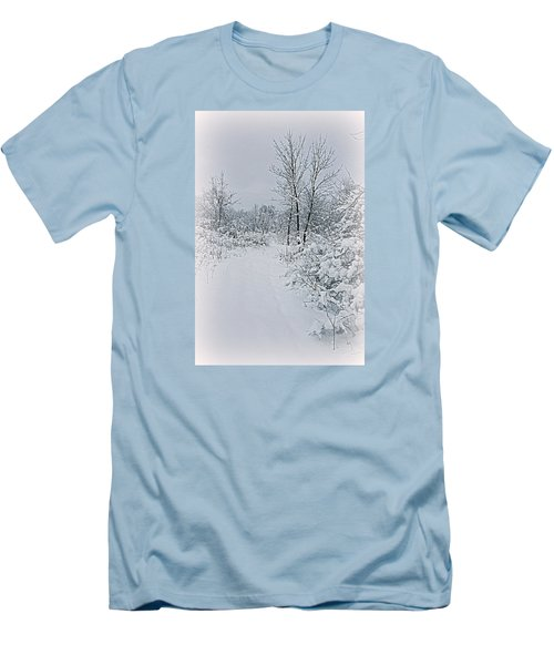 Beauty Of Winter Men's T-Shirt (Slim Fit) by Kay Novy