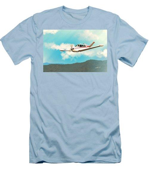 Beechcraft Bonanza V Tail Red Men's T-Shirt (Athletic Fit)