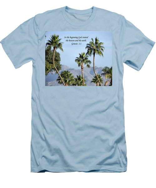Men's T-Shirt (Slim Fit) featuring the photograph Beginning by Deb Halloran
