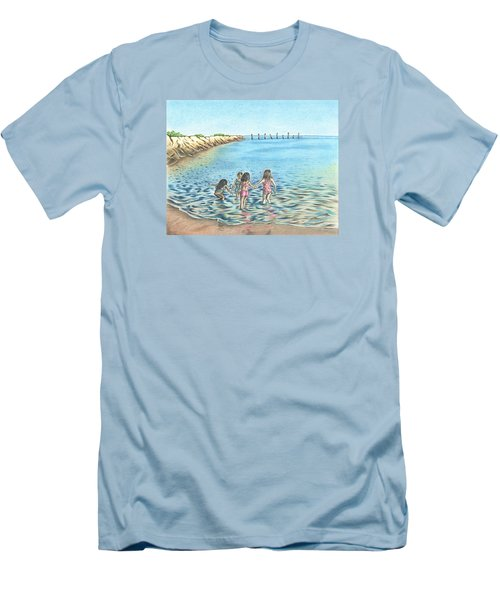 Men's T-Shirt (Slim Fit) featuring the drawing Best Friends by Troy Levesque