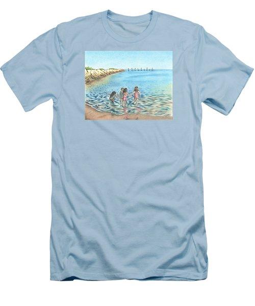 Best Friends Men's T-Shirt (Slim Fit) by Troy Levesque