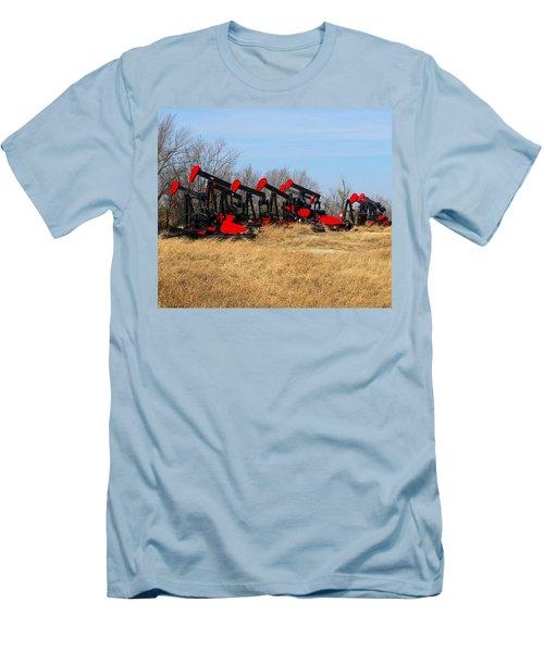 Bethlehem Pump Jacks Men's T-Shirt (Slim Fit) by Keith Stokes