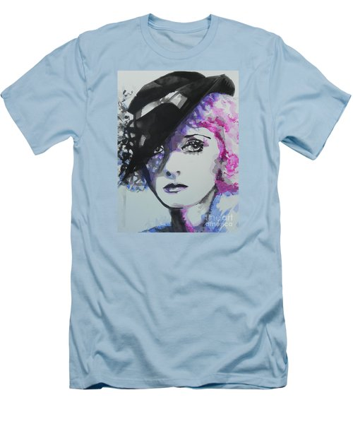 Bette Davis 02 Men's T-Shirt (Slim Fit) by Chrisann Ellis