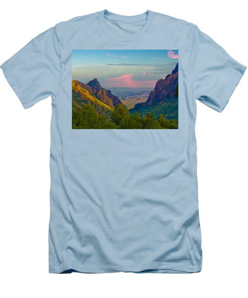 Big Bend Texas From The Chisos Mountain Lodge Men's T-Shirt (Athletic Fit)
