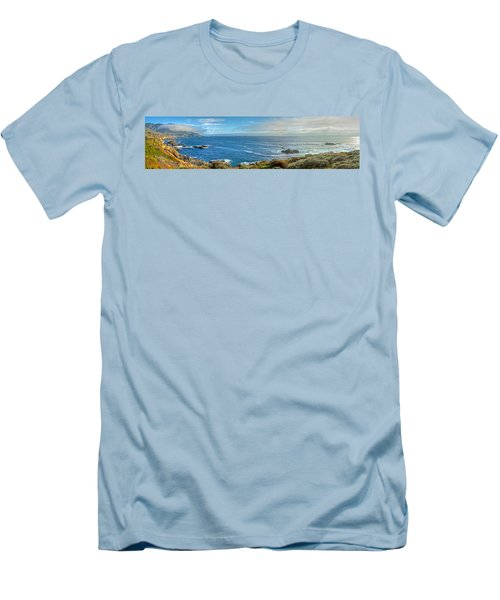 Big Sur Coast Pano 2 Men's T-Shirt (Athletic Fit)
