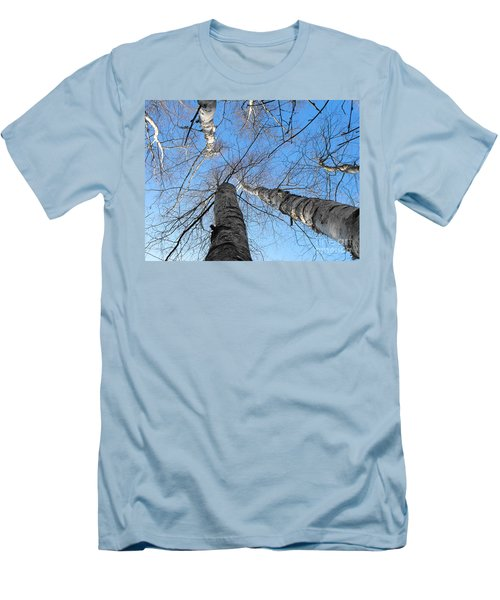 Birch Group In Winter Men's T-Shirt (Athletic Fit)
