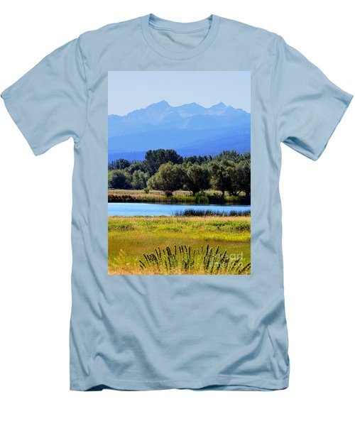 Men's T-Shirt (Slim Fit) featuring the photograph Bitterroot Valley Montana by Joseph J Stevens