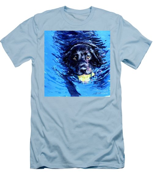 Black Lab  Blue Wake Men's T-Shirt (Athletic Fit)