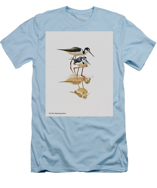 Black Neck Stilts Togeather Men's T-Shirt (Athletic Fit)