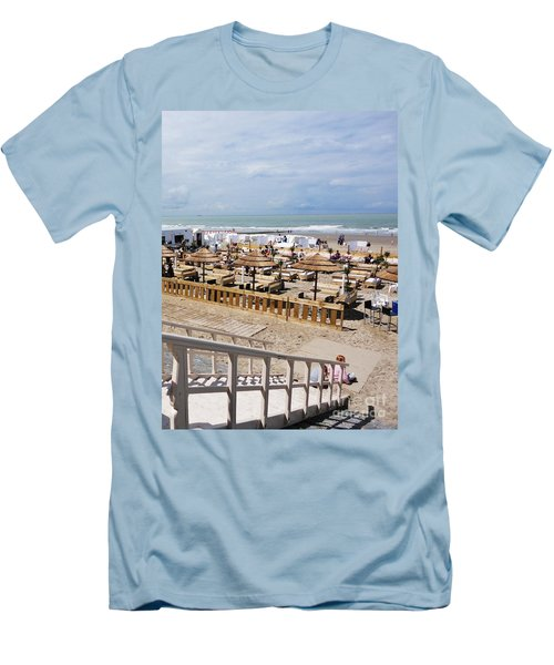 Blankenberge Beach Belgium Men's T-Shirt (Slim Fit)