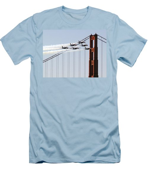 Blue Angels And The Bridge Men's T-Shirt (Athletic Fit)