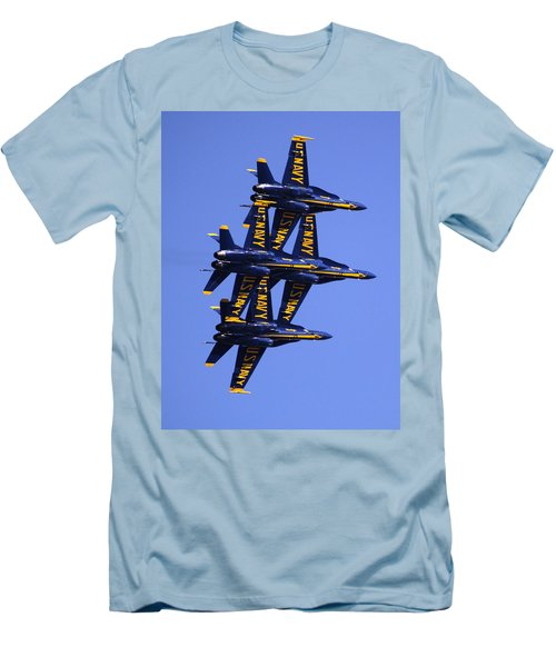 Blue Angels II Men's T-Shirt (Slim Fit) by Bill Gallagher