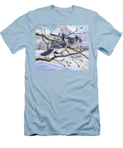 Blue Bandits Winter Afternoon Men's T-Shirt (Athletic Fit)