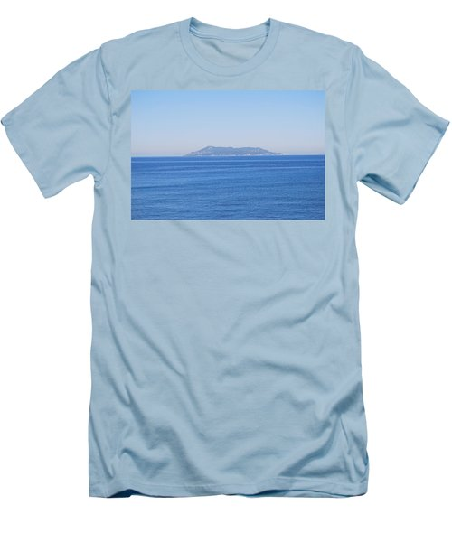 Men's T-Shirt (Slim Fit) featuring the photograph Blue Ionian Sea by George Katechis