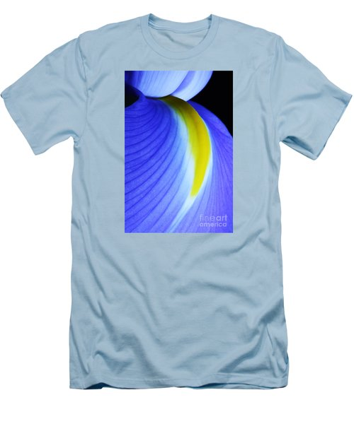 Men's T-Shirt (Slim Fit) featuring the photograph Blue by Judy Whitton