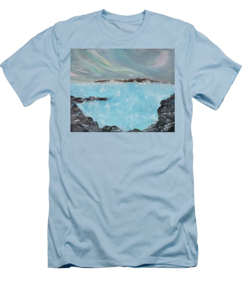 Blue Lagoon Iceland Men's T-Shirt (Athletic Fit)