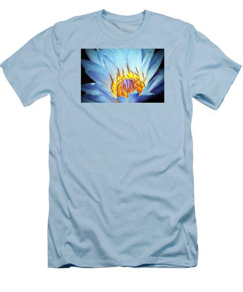 Blue Lotus Men's T-Shirt (Slim Fit) by Cynthia Guinn