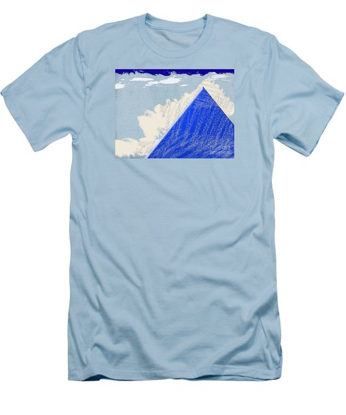 Men's T-Shirt (Slim Fit) featuring the photograph Blue Mountain by Tina M Wenger