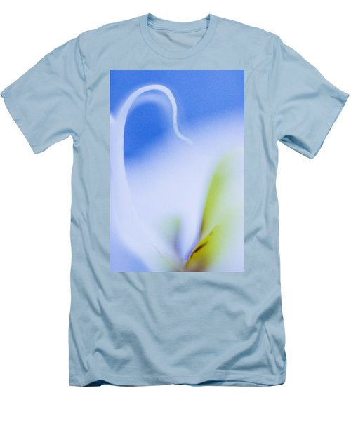 Blue Orchid Abstract Men's T-Shirt (Slim Fit) by Bradley R Youngberg