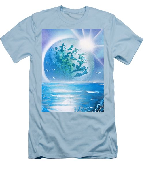 Blue Moon Men's T-Shirt (Slim Fit) by Greg Moores