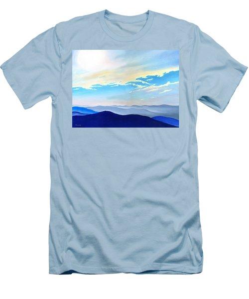 Blue Ridge Blue Above Men's T-Shirt (Athletic Fit)