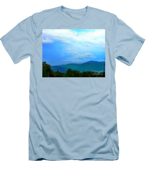 Men's T-Shirt (Slim Fit) featuring the photograph Blue Ridge Mountains by Judy Palkimas