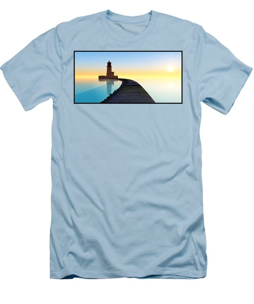 Blue Smooth Men's T-Shirt (Athletic Fit)