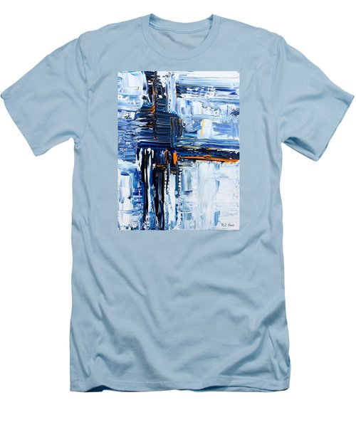 Blue Thunder Men's T-Shirt (Slim Fit) by Rebecca Davis