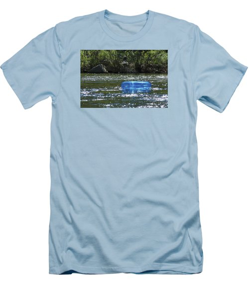 Blue Floaty - Inner Tube On The River Men's T-Shirt (Slim Fit) by Jane Eleanor Nicholas