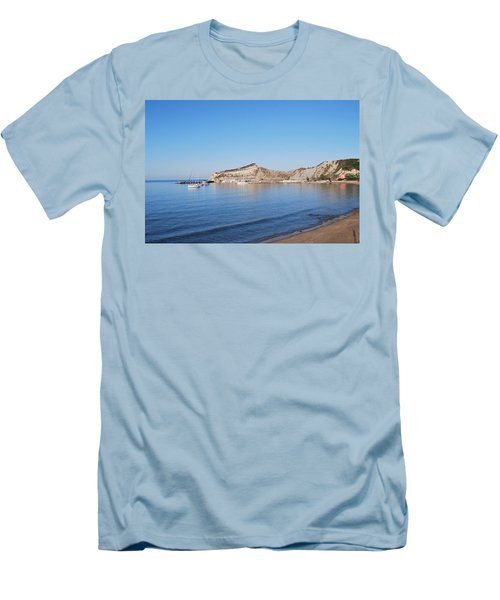 Men's T-Shirt (Slim Fit) featuring the photograph Blue Water by George Katechis