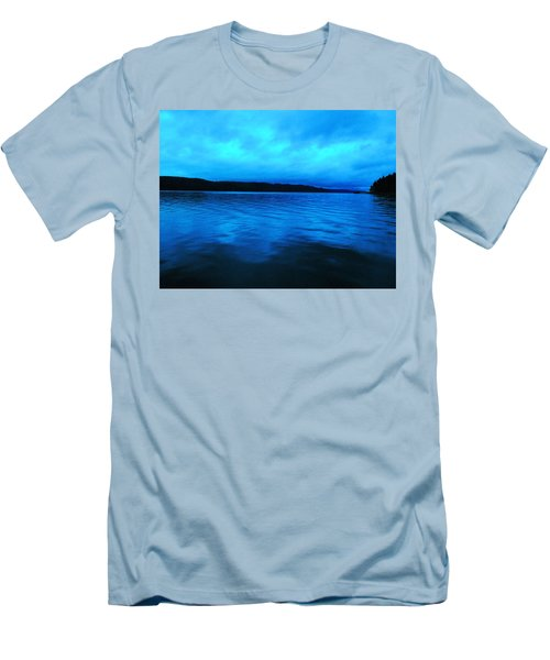 Blue Water In The Morn  Men's T-Shirt (Slim Fit) by Jeff Swan