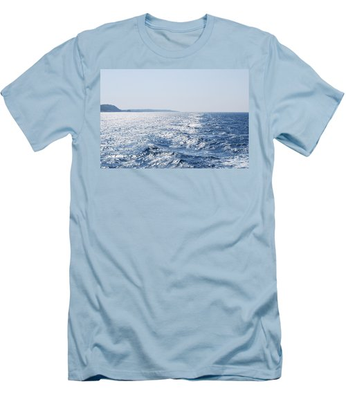 Men's T-Shirt (Slim Fit) featuring the photograph Blue Waters by George Katechis