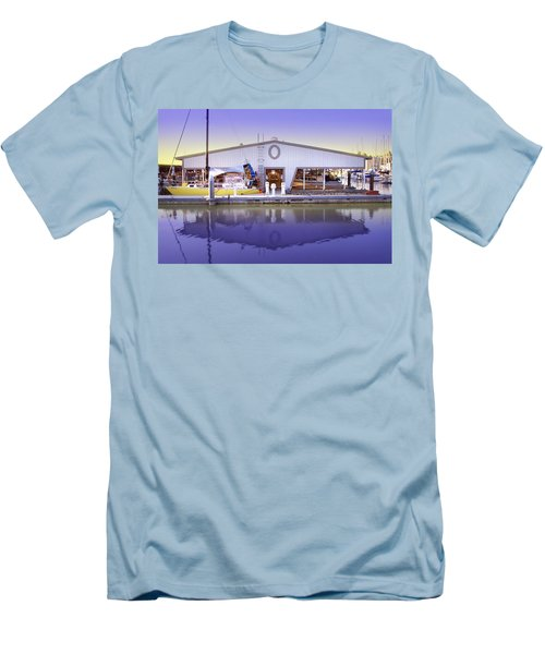 Men's T-Shirt (Slim Fit) featuring the photograph Boat House by Sonya Lang