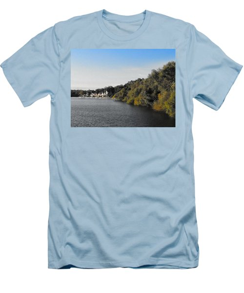 Men's T-Shirt (Slim Fit) featuring the photograph Boathouse II by Photographic Arts And Design Studio