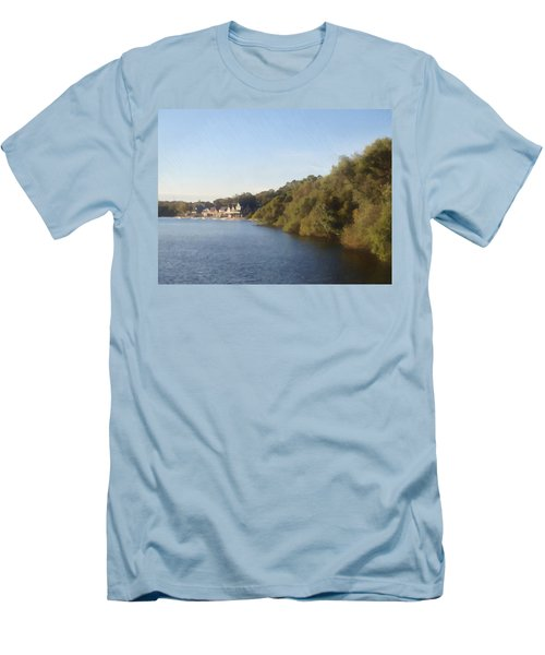 Men's T-Shirt (Slim Fit) featuring the photograph Boathouse by Photographic Arts And Design Studio