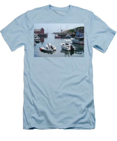 Men's T-Shirt (Slim Fit) featuring the photograph Boats On The Water by Eunice Miller