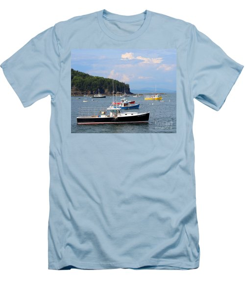 Boats In Bar Harbor Men's T-Shirt (Athletic Fit)