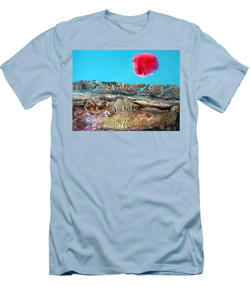 Men's T-Shirt (Slim Fit) featuring the painting Bogomil Sunrise 2 by Otto Rapp
