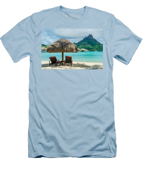 Bora Bora Beach Men's T-Shirt (Athletic Fit)