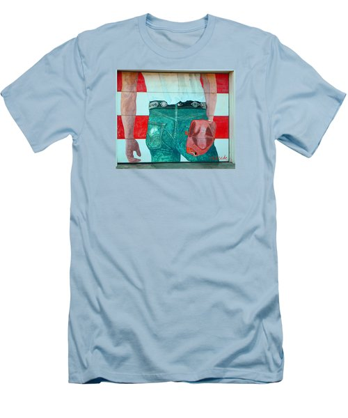 Born In The Usa Urban Garage Door Mural Men's T-Shirt (Slim Fit) by Chris Berry