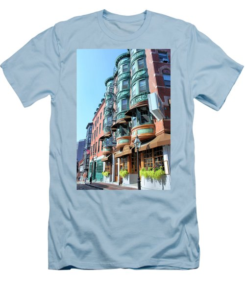 Men's T-Shirt (Slim Fit) featuring the photograph Boston Ma by Kristin Elmquist